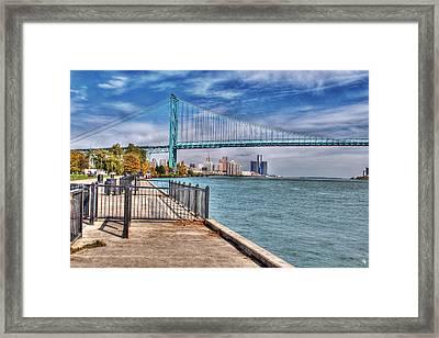Ambassador Bridge Detroit Mi Framed Print