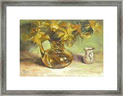 Amber Display Framed Print by Patricia Seitz