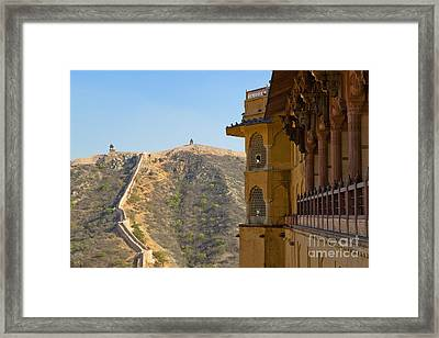 Amber Fort And Wall Framed Print by Inti St. Clair