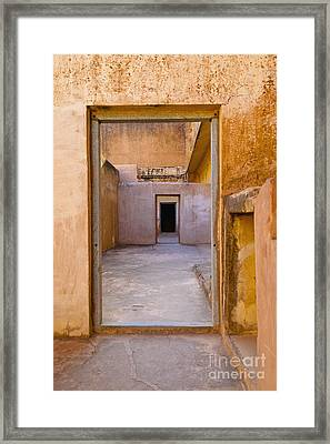 Amber Fort Doorway Framed Print by Inti St. Clair