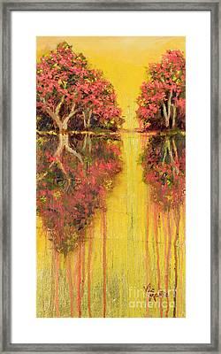 Amber Reflections Framed Print
