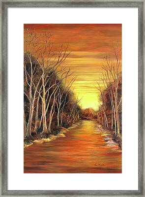 Amber River Framed Print by Vic  Mastis