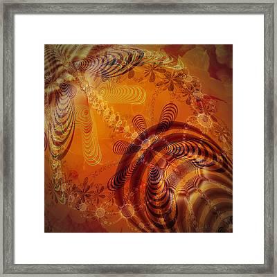 Amber Room Framed Print by Nafets Nuarb
