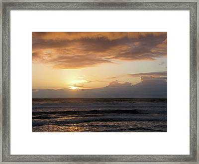 Amber Sunset Pacific II Framed Print