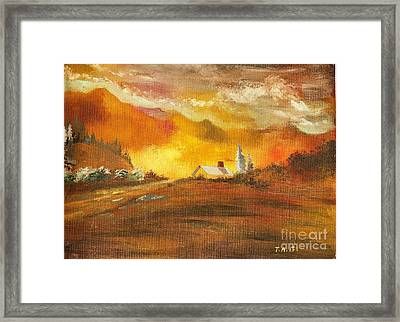 Amber Sunset Framed Print