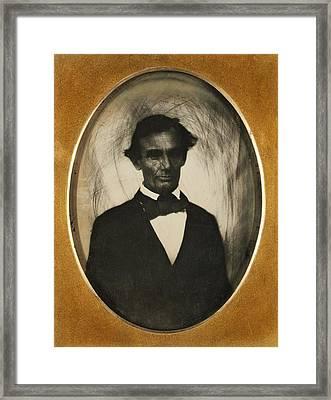 Ambrotype Of Abraham Lincoln, Taken Framed Print by Everett