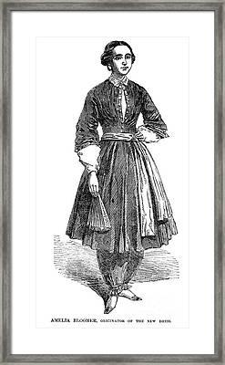 Amelia Bloomer (1818-1894) Framed Print by Granger