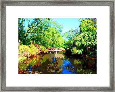 Amelia Island Bridge Framed Print by Michael Dantuono