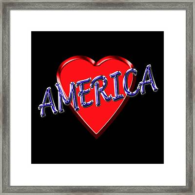 America Framed Print by Andrew Fare