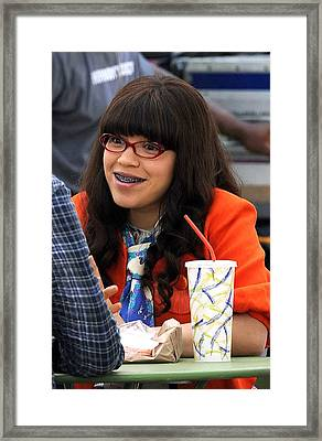 America Ferrera On Location For On Framed Print