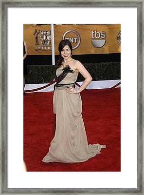 America Ferrera Wearing A Vera Wang Framed Print by Everett