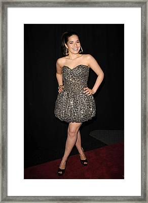 America Ferrera Wearing A Vintage 1980s Framed Print by Everett