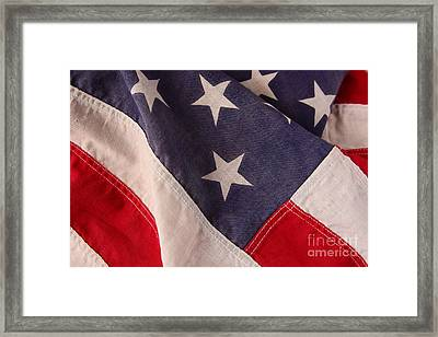 America Flag Framed Print by Ruby Hummersmith