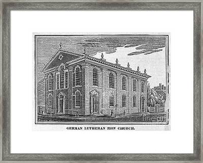 America: Lutheran Church Framed Print