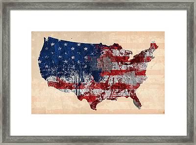 America Framed Print by Mark Ashkenazi