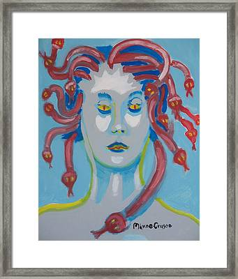 Americaine Medusa Framed Print by Jay Manne-Crusoe