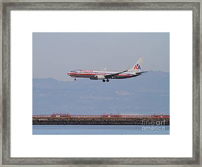 American Airlines Jet Airplane At San Francisco International Airport Sfo . 7d12212 Framed Print by Wingsdomain Art and Photography