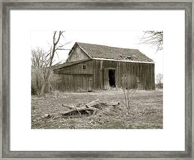 American Barn Framed Print