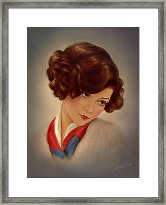American Beauty Framed Print by Evie Cook