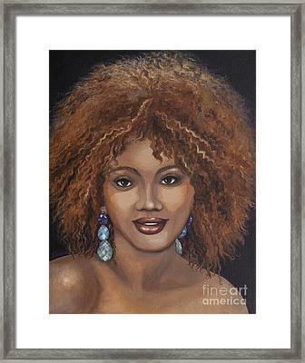 American Beauty Series 1-c Framed Print by Sharon Wenz