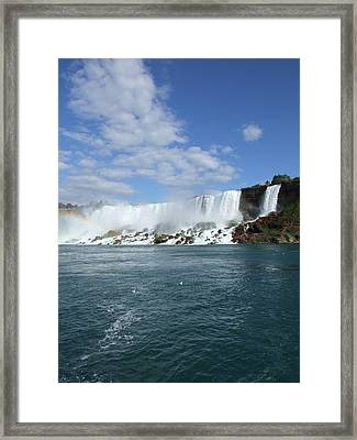 American Bridal Falls Framed Print by William Hensler