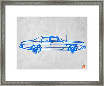 American Car Framed Print by Naxart Studio