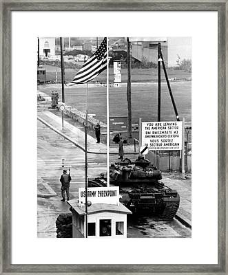 American Checkpoint Framed Print