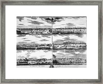American Cities, C1810 Framed Print