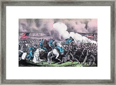 American Civil War, Battle Of Antietam Framed Print by Photo Researchers