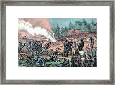 American Civil War, Battle Of Cold Framed Print by Photo Researchers