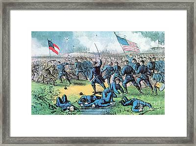 American Civil War, Battle Of Corinth Framed Print by Photo Researchers