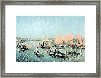 American Civil War, Battle Of Island Framed Print by Photo Researchers