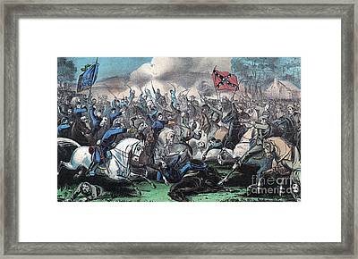 American Civil War, Battle Of Opequon Framed Print by Photo Researchers