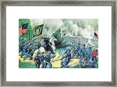 American Civil War, Battle Of Seven Framed Print by Photo Researchers