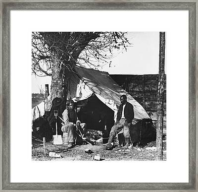 American Civil War, Contraband Framed Print by Photo Researchers