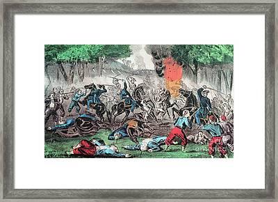 American Civil War, First Battle Framed Print