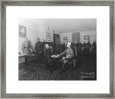 American Civil War, Surrender Of Lee Framed Print by Omikron
