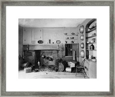 American Colonial Era Fireplace Framed Print by Everett