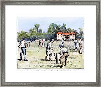 American Cricket, 1882 Framed Print