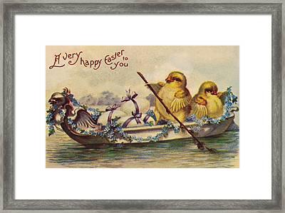 American Easter Card Framed Print by Granger
