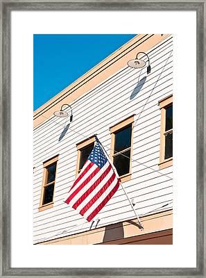 American Flag Framed Print by Tom Gowanlock