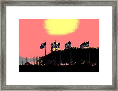 American Flags1 Framed Print
