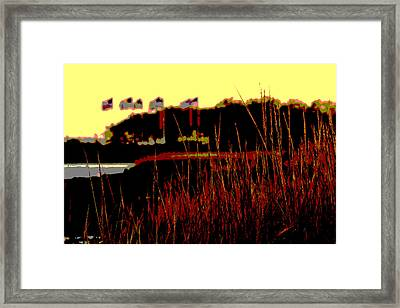 American Flags2 Framed Print