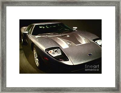 American Ford Gt - Painterly - 7d17252 Framed Print by Wingsdomain Art and Photography