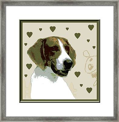 American Fox Hound Framed Print by One Rude Dawg Orcutt