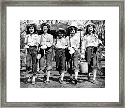 American High School Girls Of Relieve Framed Print
