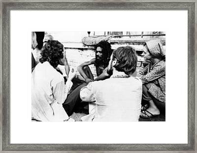 American Hippies In Katmandu, Nepal Framed Print