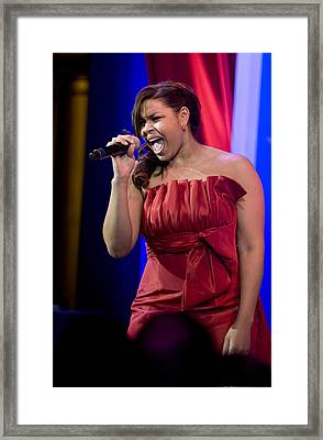 American Idol Jordin Sparks Performs Framed Print