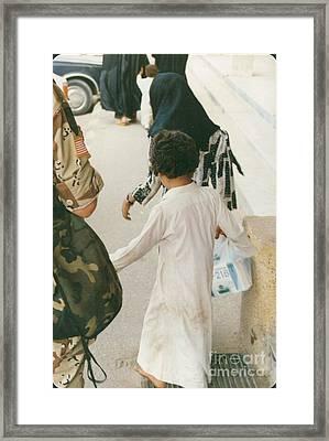 American In Bahrain Framed Print