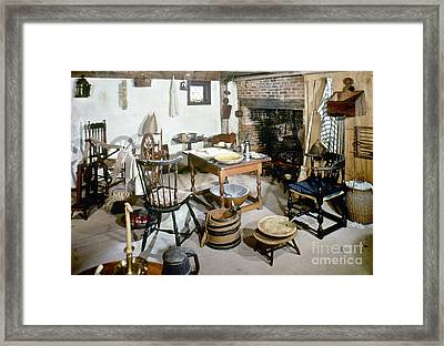 American Kitchen, 1695 Framed Print by Granger
